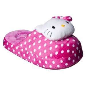 Girl Size 2 3 Hello Kitty Scuff Slippers, Plush Soft and Cuddly, Great