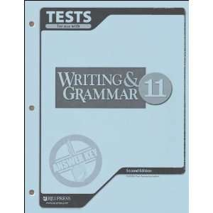 Writing & Grammar for Christian Schools Tests Answer Key