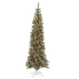 90 Artificial Pencil Christmas Tree with Clear Lights