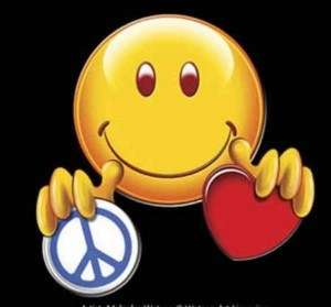 SMILEY FACE PEACE LOVE FUNNY T SHIRT HAPPY FACE YL 3X