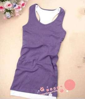 New Womens Sleeveless Tank Tops Cami No Sleeve T Shirt girl Vest 13
