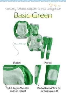 NWT Baby & Toddler Boy Girl Sleepwear Pajama Set  Basic Green