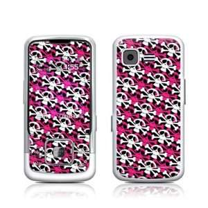 Skully Pink Design Protective Skin Decal Sticker for Samsung SPH M330