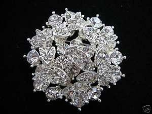 SIMULATED DIAMOND SNOWFLAKE BROOCH//PIN (V SY)