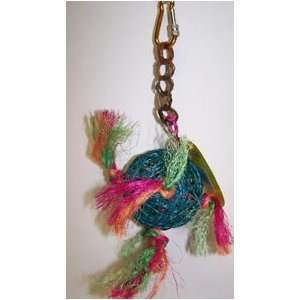 00203 Hanging 3 in Twine Ball With Sisal Rope Bird Toy Pet Supplies
