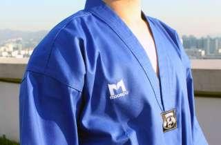 Moospo]Korea TaeKwonDo TKD uniforms BLUE DOBOK for Master 100~190