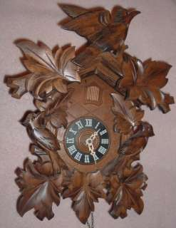 Day Cuckoo Clock Black Forest Germany Working NICE