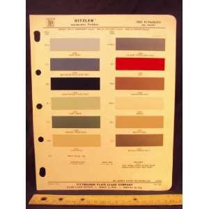 1963 PLYMOUTH and Valiant Paint Colors Chip Page Chrysler