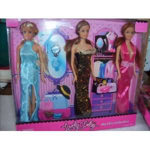 My Chic Collection   3 Dolls With Fashion Gowns & Accessories Toys