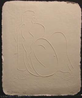 Kiana Paper Cast Embossing Art Signed Limited Ed SUBMIT OFFER