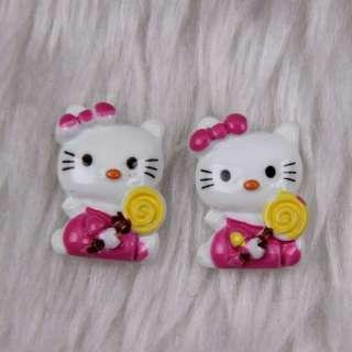 135pcs colour Hello Kitty flatback 19x13mm #2F185 free ship