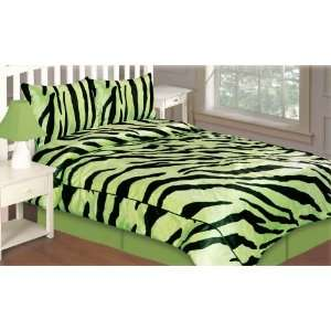 Wendy Limeade / Black Comforter Set:  Home & Kitchen