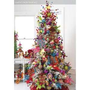 Pre lit 7.5 Ft Artificial Flocked Snow Christmas Tree w/ Clear Lights