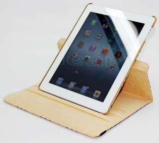 The New iPad 3rd Generation Smart Cover PU Leather Case Stand Black