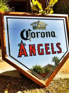 Corona Cerveza Beer Anaheim LA Angels MLB Baseball Beer Bar Mirror