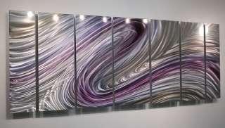 Purple/Silver Painting Metal Wall Art Decor Wild Imagination