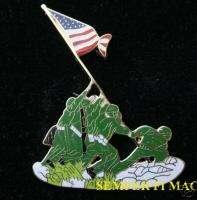 XL IWO JIMA USA FLAG US MARINE USS NAVY PIN CORPSMAN