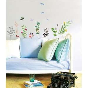 FLOWER GARDEN DECOR MURAL WALL PAPER STICKER PS 58080