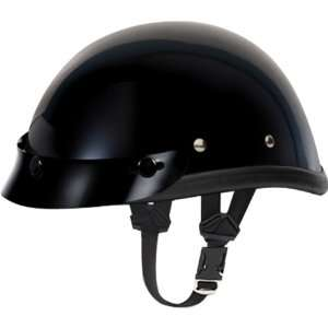 Basic/Custom Novelty Harley Motorcycle Helmet   Hi Gloss Black / Large