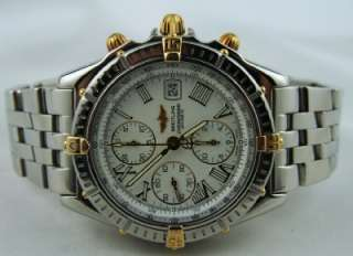 Breitling Crosswind Automatic Chronograph 18kt Gold & Steel White Dial