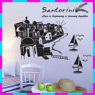 GP 1000 SANTORINI Graphic Wall Art Deco Decals Sticker