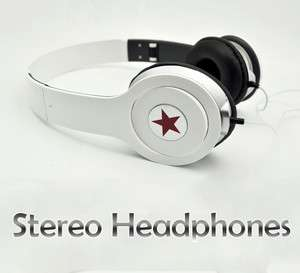 New white High Quality Stereo Headphones Earphone Headset For DJ PSP