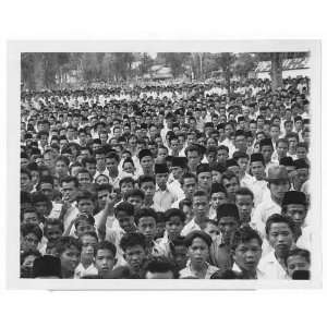 Crowd,Indonesians,Rebel Rally,Batu Sankar,Sumatra,1958 Home & Kitchen