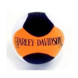 Harley Davidson Orange Black Plush Ball Cat Toy w/Bell