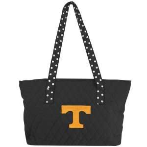 Tennessee Volunteers Black Team Logo Small Quilted Purse