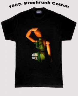 Rolling Rock Beer Dramatic Pose T Shirt All Sizes