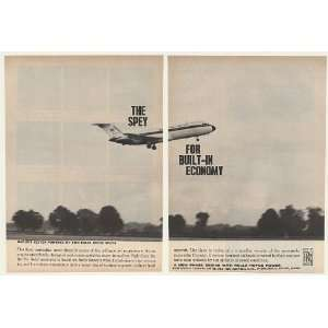 Rolls Royce Spey Jet Engine 2 Page Print Ad (43019)