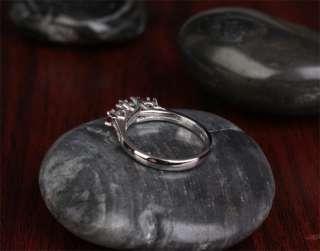 STONES &DIAMOND 1.48ct  14K WHITE GOLD Engagement Wedding RING