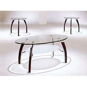 Acme Furniture Glass Top Coffee End Table 3 piece 08188