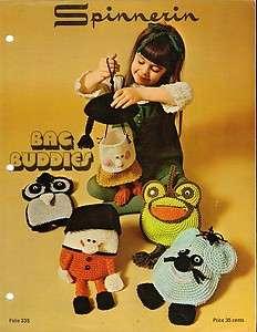 Pattern Leaflet Bag Buddies Bags  Owl Frog Mouse Boy Girl Spinnerin