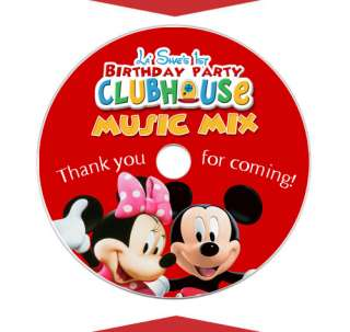 MICKEY MINNIE MOUSE Birthday Party CD LABELS