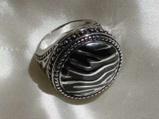 Premier Designs Jewelry SAFARI ring ANTIQUED RHODIUM SILVER size 8