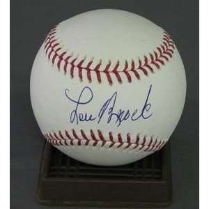Lou Brock Signed Major League Baseball