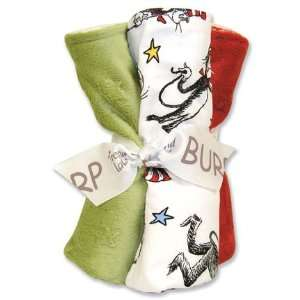 Dr Suess Cat in the Hat Baby Burp Cloth Gift Set Baby