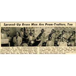 1952 Print Johnny Bruce Band Jazz Swing Group Illinois