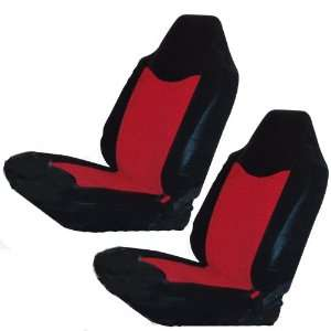 Red & Black Car Truck SUV Bucket Seat Cover   Pair