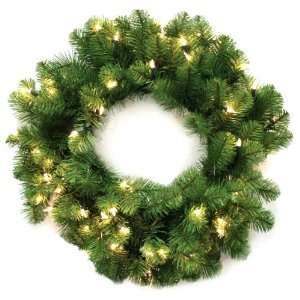 Good Tidings 96323 Wreath Nottingham Pine PVC 50 Clear Lights 110 Tips