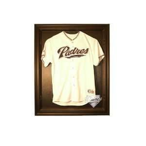 San Diego Padres Cabinet Style Jersey Display   Black