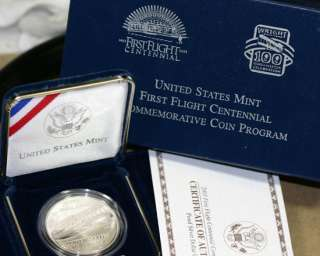First Flight Centennial Proof Silver Dollar US Mint Coin Commemorative