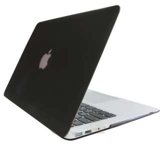 New Black Rubberized Texture Hard Case Cover For Apple MacBook Air 13