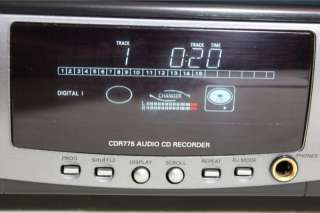 Philips CDR775 Audio CD Recorder Dual Deck Compact Disc Player