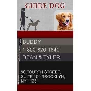 GUIDE DOG ID Badge   1 Dogs Custom ID Badge   Design#1