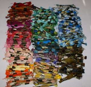 Huge Lot 550 + Skeins DMC 25 Cotton Embroidery Floss Thread