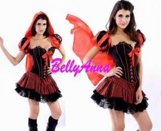 Ladies Deluxe Little Red Riding Hood Fancy Dress Halloween Costume