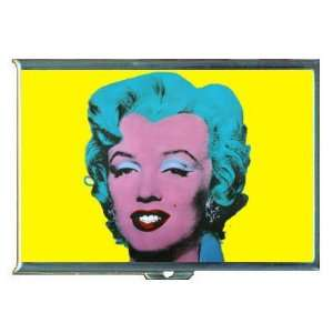 MARILYN MONROE ANDY WARHOL TURQUOISE ID Holder Cigarette Case Wallet