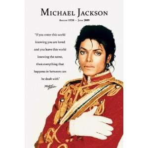 Michael Jackson (Loved) Music Poster Print